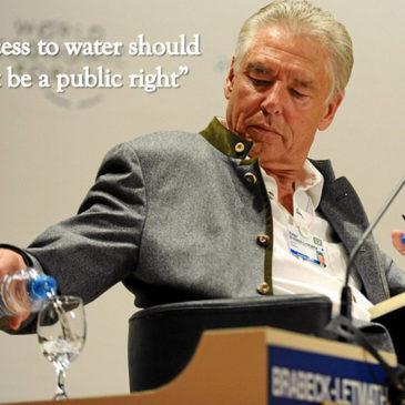 Η δήλωση του προέδρου της Nestle: Το νερό δεν είναι ανθρώπινο δικαίωμα ! (Video)
