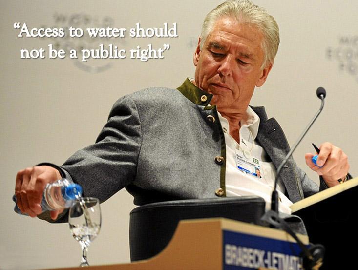 Ο πρόεδρος της Nestlé δηλώνει ότι το νερό δεν είναι ανθρώπινο δικαίωμα!
